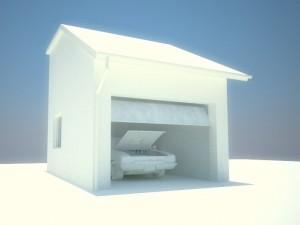 wizualizacja garażu
