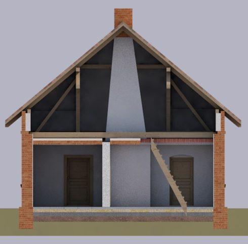 przekrój inwentaryzacja budynku
